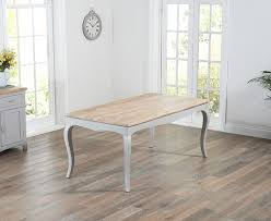 parisian 175cm grey shabby chic dining table with benches the