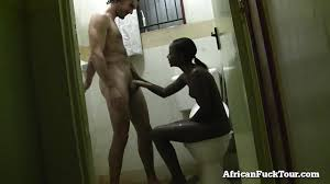 Getting Fucked In The Bathroom Amateur African Gets Fucked In The Bathroom D7