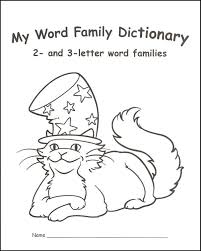 my word family dictionary 2 and 3 letter word families 044136