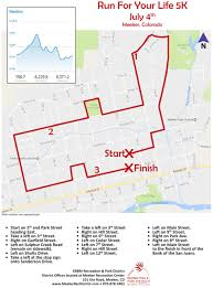 Map Your Run Run For Your Life 5k In Meeker Co Details Registration And