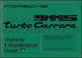 porsche 911 maintenance schedule 1977 porsche 911 s turbo warranty maintenance schedule