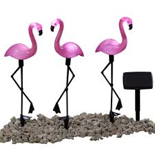 Bird Solar Lights by Buy Set Of Three Flamingo Solar Lights At Mailshop Co Uk Mp1160525