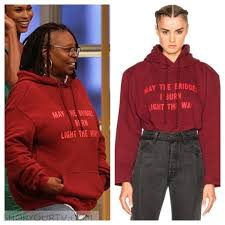 may the bridges i burn light the way vetements the view september 2016 whoopi s red may the bridges i burn light