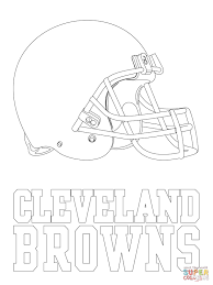 cleveland browns logo coloring page free printable coloring pages