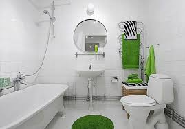 green and white bathroom ideas light green floral accents in white bathroom for stylish