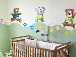 stickers nounours pour chambre bébé autocollant ourson nath l ourson