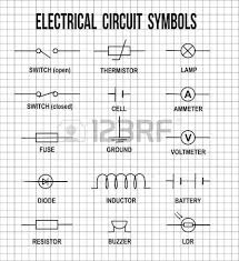 electronic symbol electric circuit symbol element set pictogram