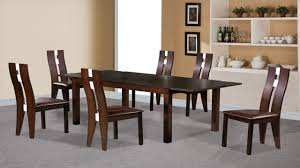Beechwood Dining Table And  Chairs Dark Walnut Homegenies - Beech kitchen table