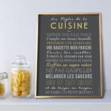 affiches cuisine les règles de la cuisine sur papier peint adhésif