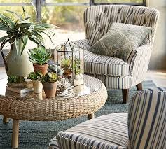 Armchair Upholstered Cardiff Upholstered Tufted Armchair With Nailhead Antique Stripe