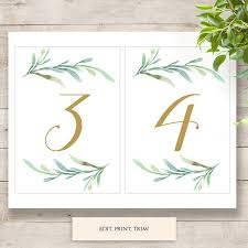 wedding table numbers template printable menus place cards numbers and seating chart connie joan
