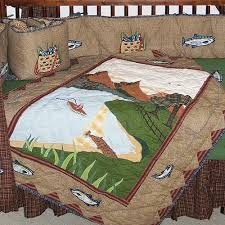 Crib Bed Set Patch Magic Fishing 6 Crib Bedding Set