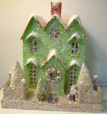 details about cardboard lighted christmas glitter house choice