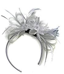 headband online silver grey fascinator on headband for wedding and ascot races