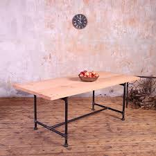 dining tables rustic farmhouse dining table metal top round