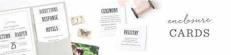 Wedding Invitation Insert Cards Wedding Enclosure Cards By Basic Invite