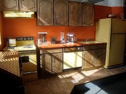 Orange Kitchen Cabinets 70s Kitchen Colors Cabinets And Appliances My Children U0027s
