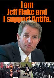 Flake Meme - i am jeff flake and i support antifa the donald
