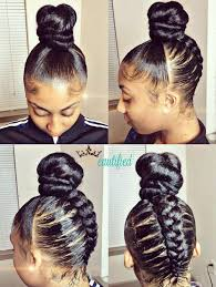 black hair buns stylish braided bun updo african american inspirations american