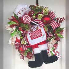 80 best santa wreaths and decorations images on