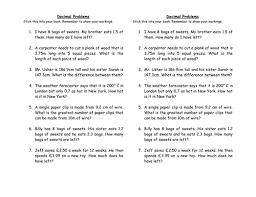 decimal word problems by hanben123 teaching resources tes