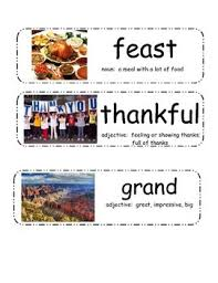thanksgiving day by gail gibbons vocabulary cards by
