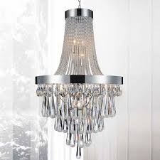 picture of 52 liberale modern crystal large foyer round chandelier polished chrome 17 lights