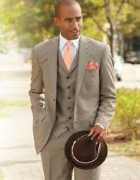 Country Style Wedding Tuxedos 2018 Grey Mens Wedding Suits Tuxedos Notched Lapel Formal Mens