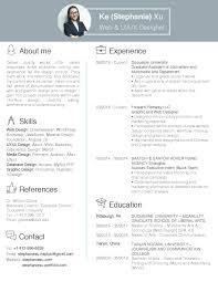 User Experience Designer Resume Ke Xu About Me