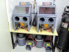 harbor freight sand blast cabinet upgrades a homemade sandblast booth workshop pinterest homemade shop