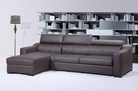 Modern Leather Sofa Chocolate Brown Italian Leather Modern Sleeper Sectional Sofa