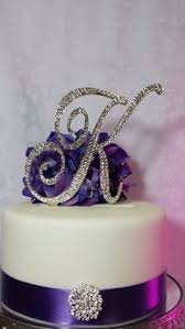 l cake topper 6 inch monogram wedding cake topper bling sparkly weddings