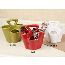 Red Kitchen Accessories Ideas Dining Room Rattan Bottle Flatware Caddy For Kitchen Accessories