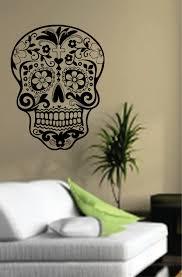 Wizard Of Oz Wall Stickers 35 Sugar Skull Wall Decal Sugar Skulls Flowers Square Wall Decal