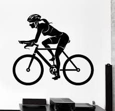 compare prices on sports stickers wall online shopping buy low free shipping sports wall sticker bike bicycle woman female cyclist vinyl decal fashion removable wall decals