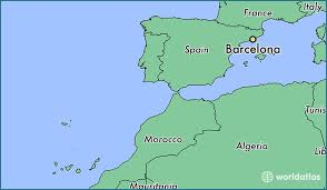 spain on a map where is barcelona spain where is barcelona spain located in