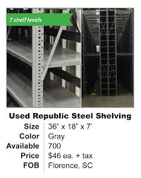 Used Steel Shelving by Used Pallet Rack Shelving Decking And Equipment Reb