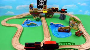 pirate ship children treasure hunting train toy learn sea animals