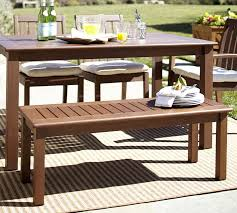 Outdoor Tables And Benches Chatham Dining Bench Dark Honey Pottery Barn
