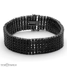 black diamonds bracelet images Diamond bracelet for men picture icon row mens hip hop black jpg