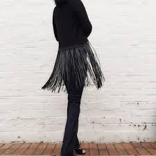 black fringe sweater zara zara fringe cardigan black from c s closet on poshmark