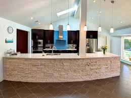 bathroom comely lovely curved kitchen island islands stone front