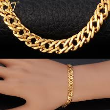 rose gold fashion bracelet images U7 fashion bracelet men jewelry silver black yellow gold rose gold jpg