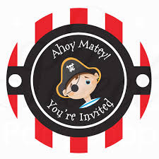 pirate party birthday favor sticker labels pirate theme personalized
