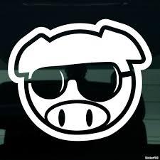 subaru decals decal jdm subaru pig in glasses buy vinyl decals for car or