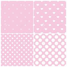 Pink Tile Cute Pink Tile Vector Pattern Set With White Polka Dots And Hearts