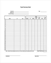 Employee Payroll Sheet Template 7 Payroll Sheet Templates Free Sle Exle Format