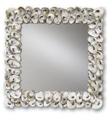 home decor mirrors lamps com currey company 1348 oyster shell 20 inch mirror