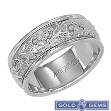 womens wedding ring 11 wv4309w lyric 14k white gold womens wedding band from artcarved