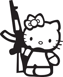 jdm car stickers hello kitty gun jdm car vinyl sticker decal vinyl vault